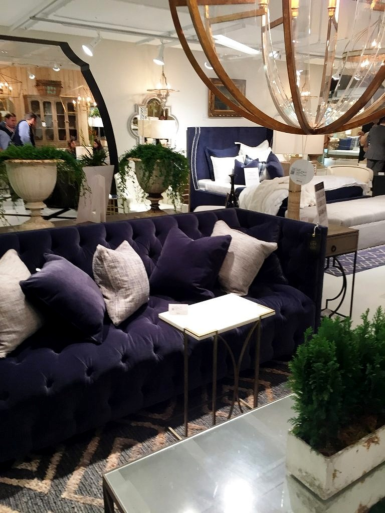 And Everywhere You Looked There Was A Gorgeous Navy Blue Couch As Our British Cottage Aficionados Know Look We Have Championed For Several Years Now